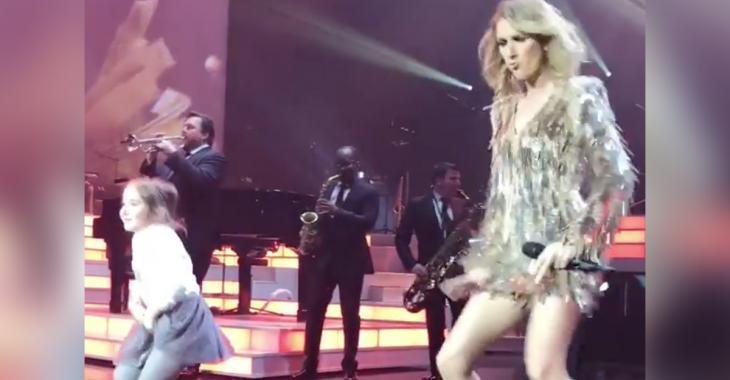 Une fillette monte sur scène et vole la vedette à Céline en plein spectacle!