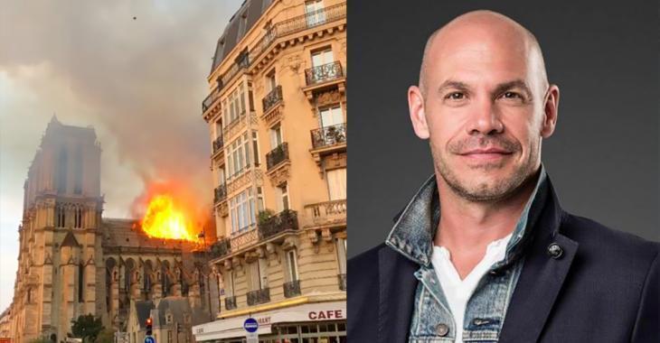 Maxim Martin se trouvait à quelques mètre de Notre-Dame de Paris lorsque l'incendie a éclaté