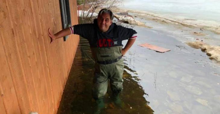 Marc Hervieux a été inondé mais il envoie le plus inspirant des messages