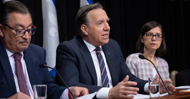 Voici le texte que François Legault a demandé aux Québécois de lire lors de son point de presse