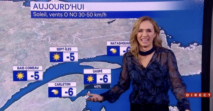 À VOIR: Marie-Andrée Poulin a un fou rire incontrôlable en direct sur les ondes de LCN