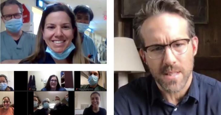 L'acteur Ryan Reynolds a appelé les employés d'un hôpital de Montréal pour les remercier
