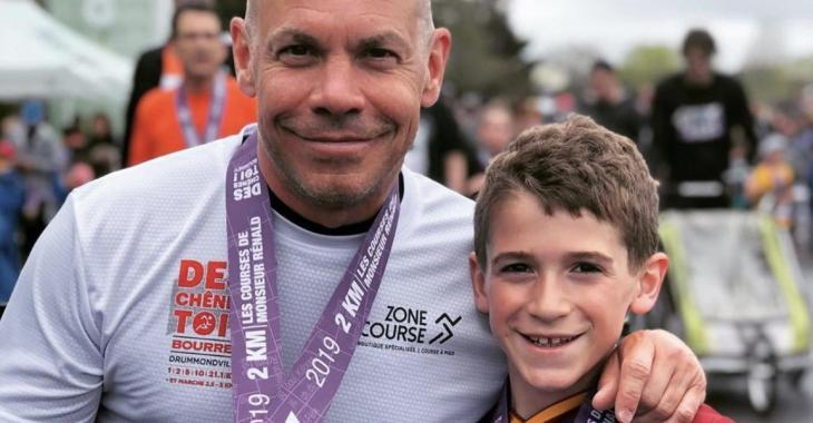 Maxim Martin partage un moment privilégié avec son fils William