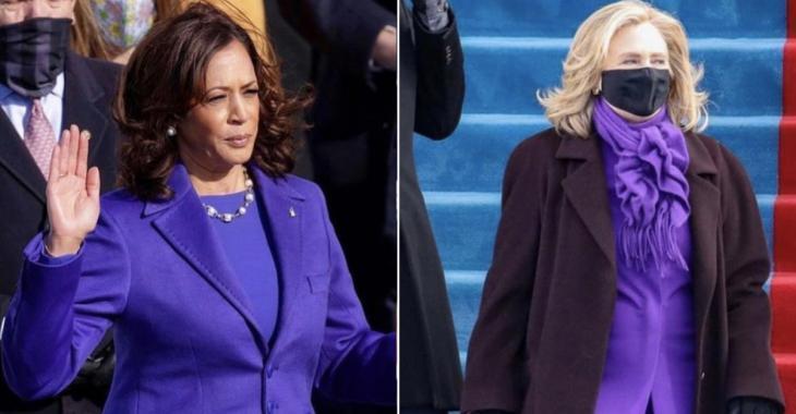 Voici pourquoi Kamala Harris, Hillary Clinton et Michelle Obama portaient du mauve à l'inauguration de Joe Biden